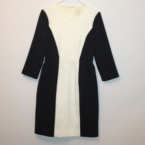 Kate Spade black and white color block dress